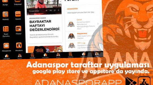 ADANASPOR APP YAYINDA